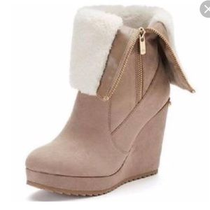 Kasia Juicy couture fold over wedge boots